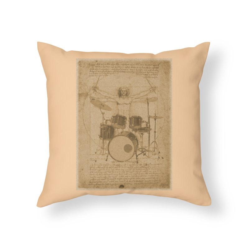 Vitruvius Percussionus Home Throw Pillow by creativehack's Artist Shop