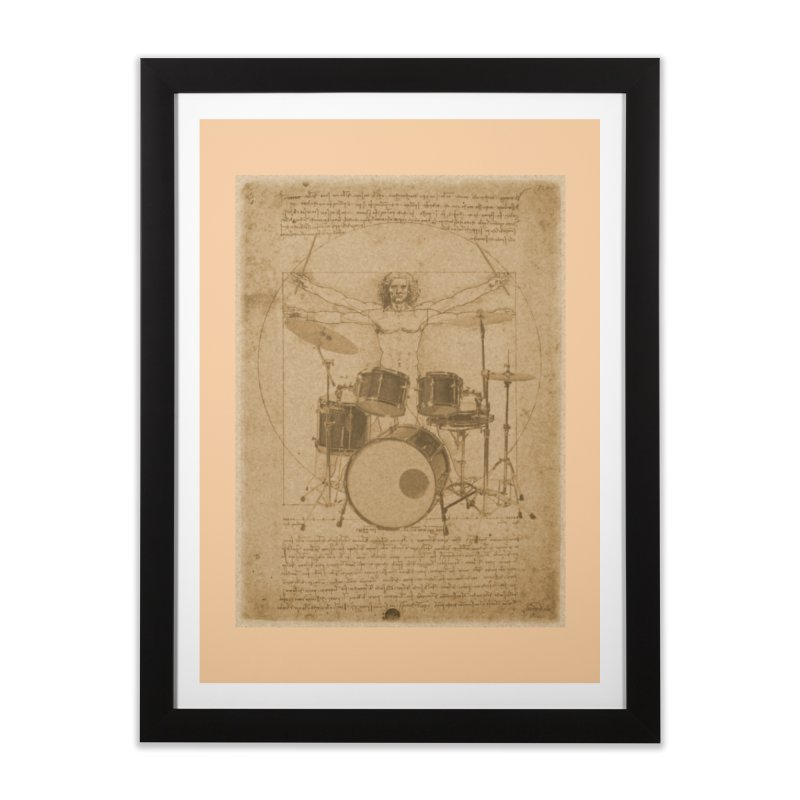 Vitruvius Percussionus Home Framed Fine Art Print by creativehack's Artist Shop