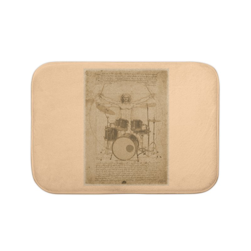 Vitruvius Percussionus Home Bath Mat by creativehack's Artist Shop