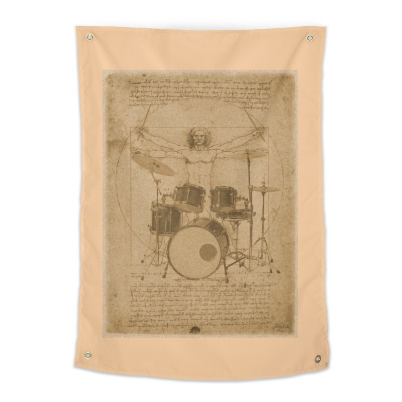 Vitruvius Percussionus Home Tapestry by creativehack's Artist Shop