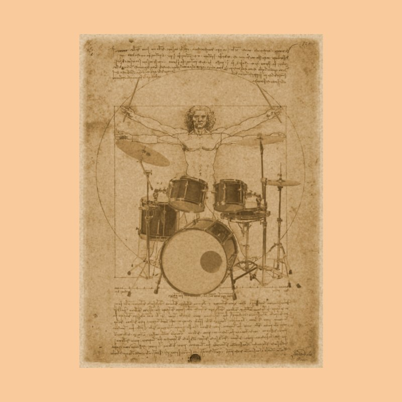 Vitruvius Percussionus Home Stretched Canvas by creativehack's Artist Shop