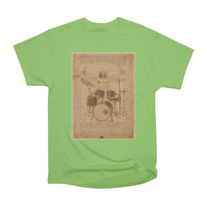 Vitruvius Percussionus Women's Heavyweight Unisex T-Shirt by creativehack's Artist Shop