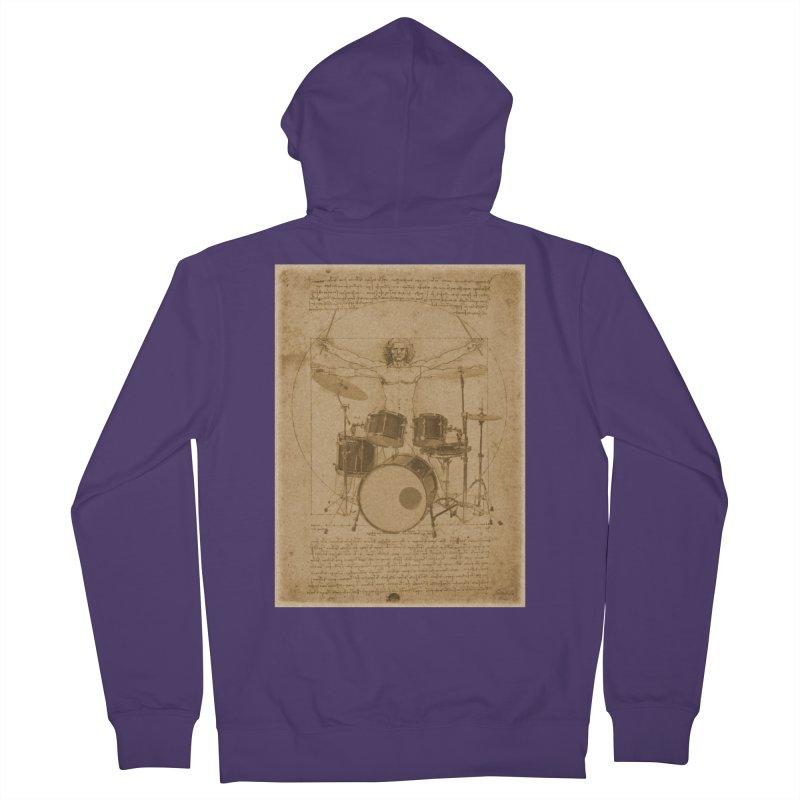 Vitruvius Percussionus Women's Zip-Up Hoody by creativehack's Artist Shop