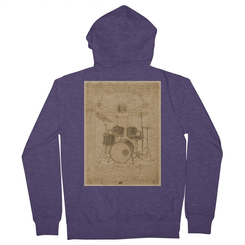 Vitruvius Percussionus Men's Zip-Up Hoody by creativehack's Artist Shop