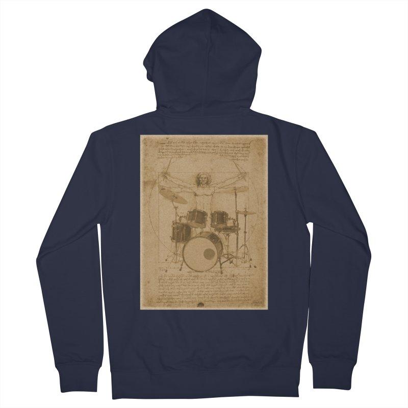 Vitruvius Percussionus Men's Zip-Up Hoody by creativehack's Artist Shop