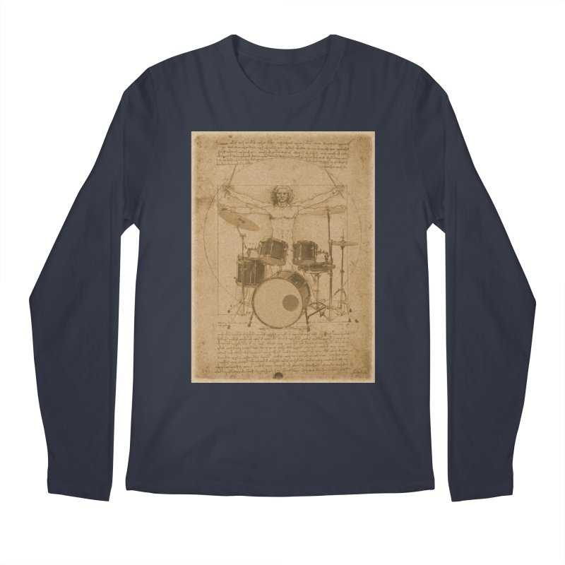 Vitruvius Percussionus Men's Longsleeve T-Shirt by creativehack's Artist Shop