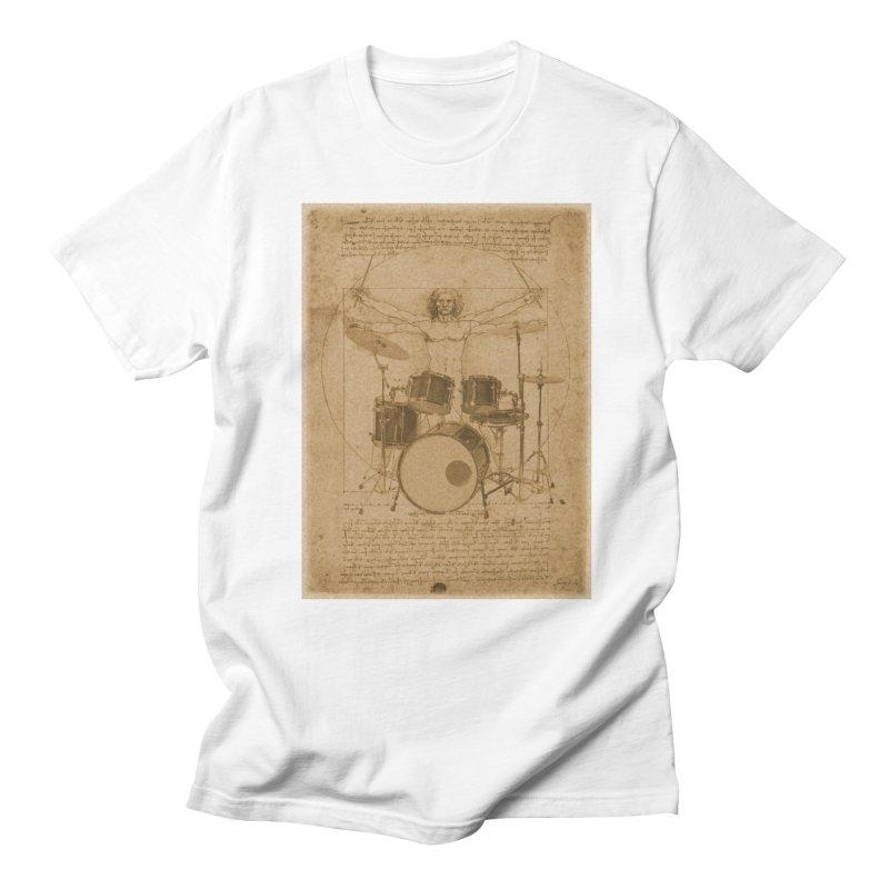 Vitruvius Percussionus Men's T-Shirt by creativehack's Artist Shop