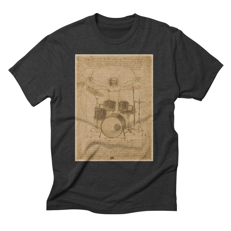 Vitruvius Percussionus Men's Triblend T-shirt by creativehack's Artist Shop