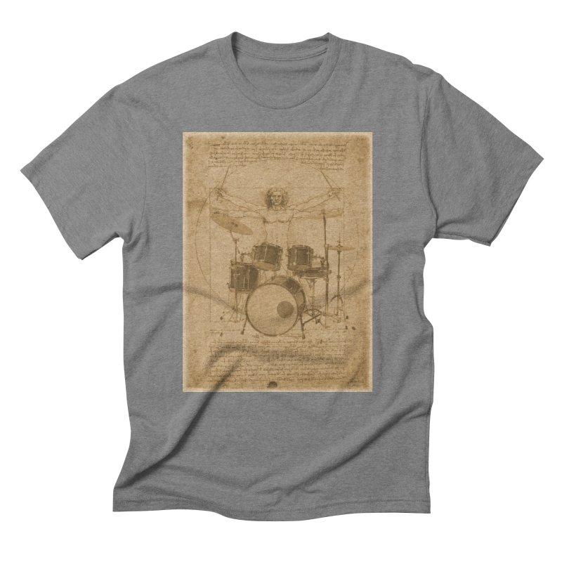Vitruvius Percussionus Men's Triblend T-Shirt by creativehack's Artist Shop