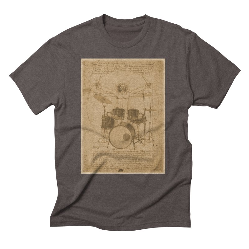 Vitruvius Percussionus in Men's Triblend T-Shirt Tri-Coffee by creativehack's Artist Shop