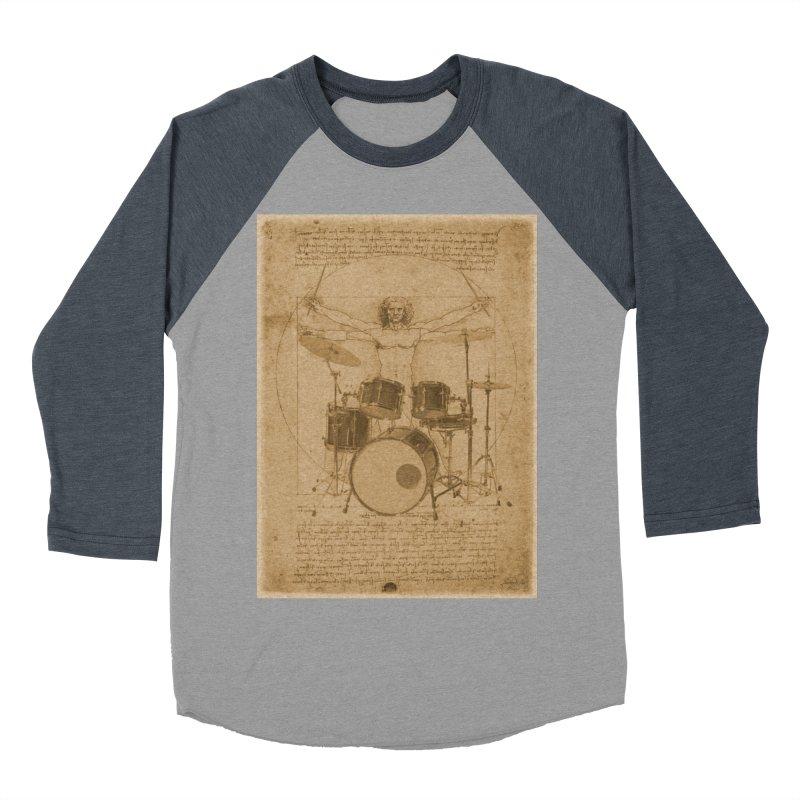 Vitruvius Percussionus Women's Baseball Triblend T-Shirt by creativehack's Artist Shop