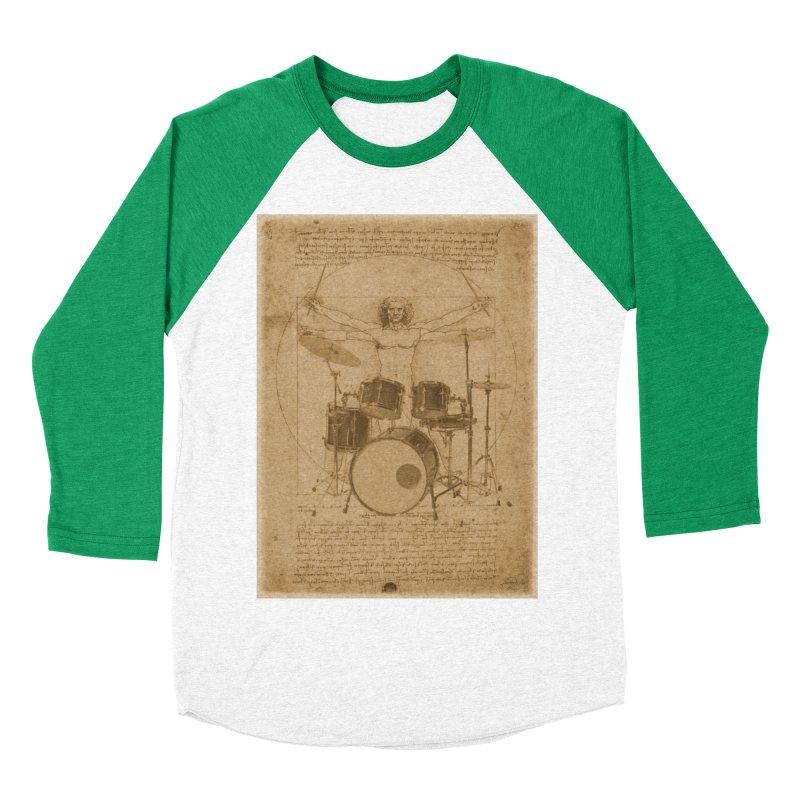 Vitruvius Percussionus Men's Baseball Triblend T-Shirt by creativehack's Artist Shop