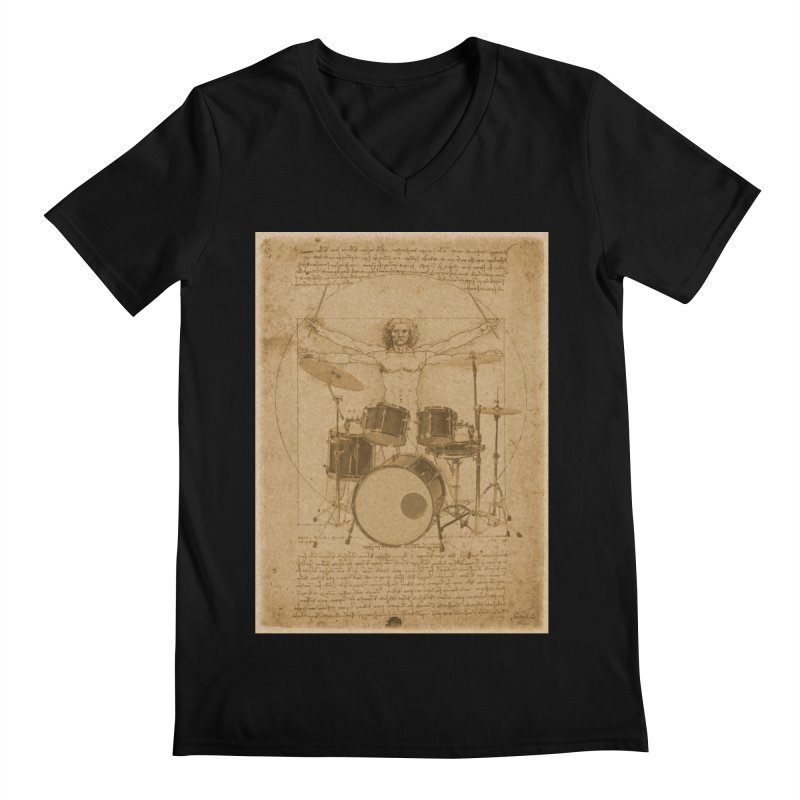 Vitruvius Percussionus Men's V-Neck by creativehack's Artist Shop