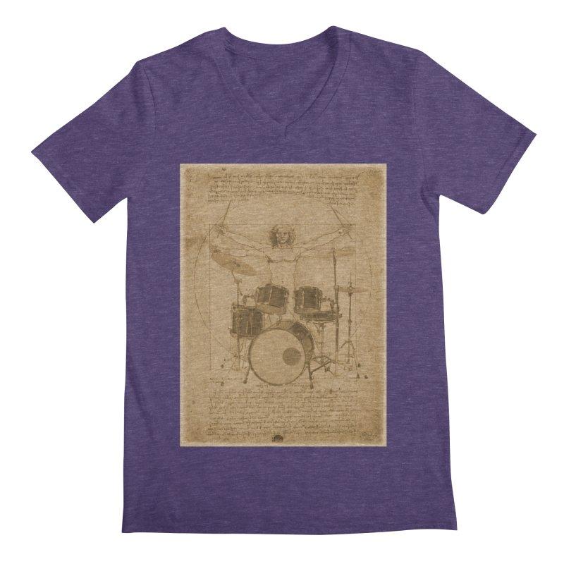 Vitruvius Percussionus Men's V-Neck by creativehack's Artist Shop