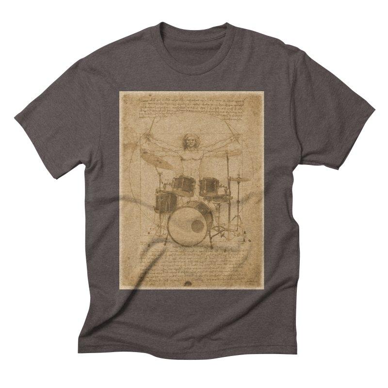 Vitruvius Percussionus in Men's Triblend T-shirt Tri-Coffee by creativehack's Artist Shop