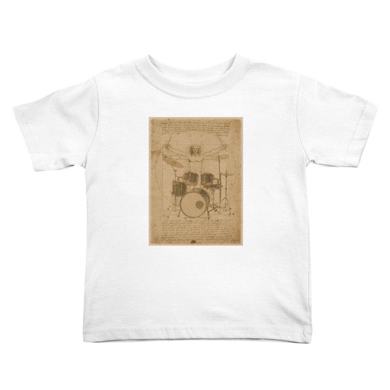 Vitruvius Percussionus Kids Toddler T-Shirt by creativehack's Artist Shop