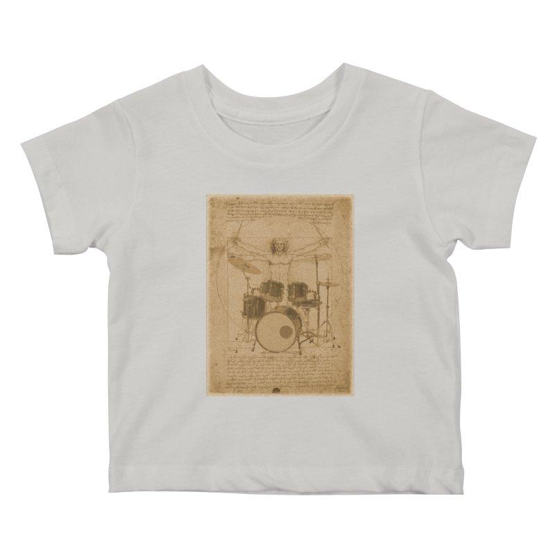Vitruvius Percussionus Kids Baby T-Shirt by creativehack's Artist Shop