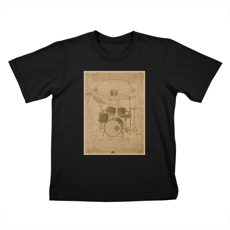 Vitruvius Percussionus Kids T-Shirt by creativehack's Artist Shop