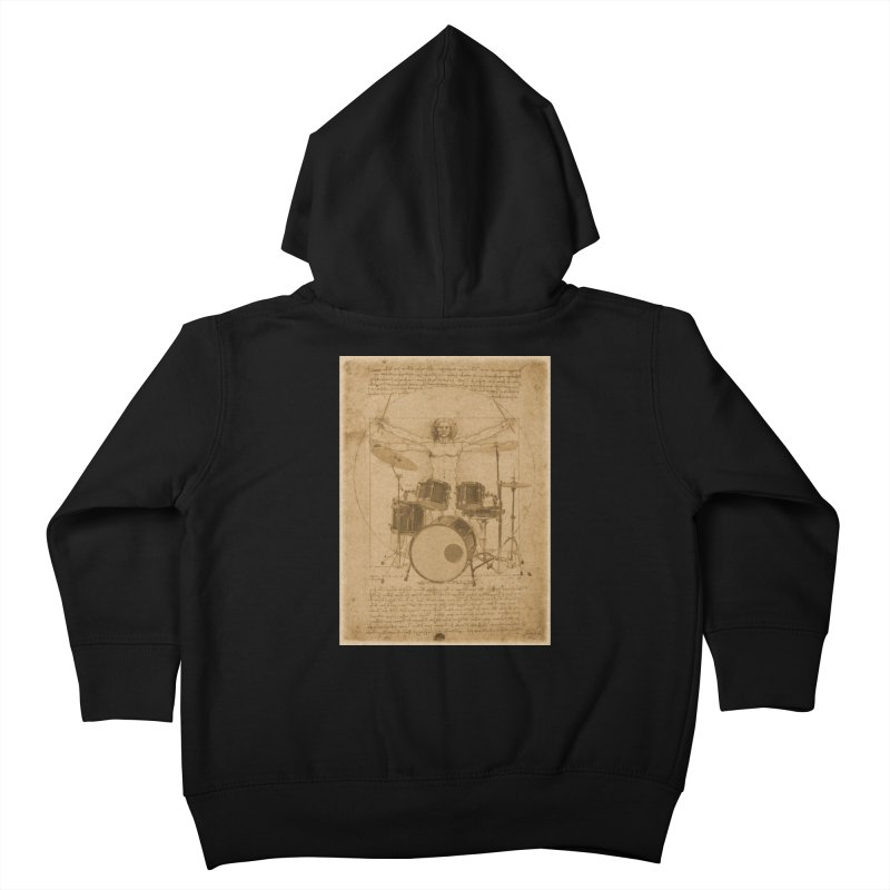 Vitruvius Percussionus Kids Toddler Zip-Up Hoody by creativehack's Artist Shop
