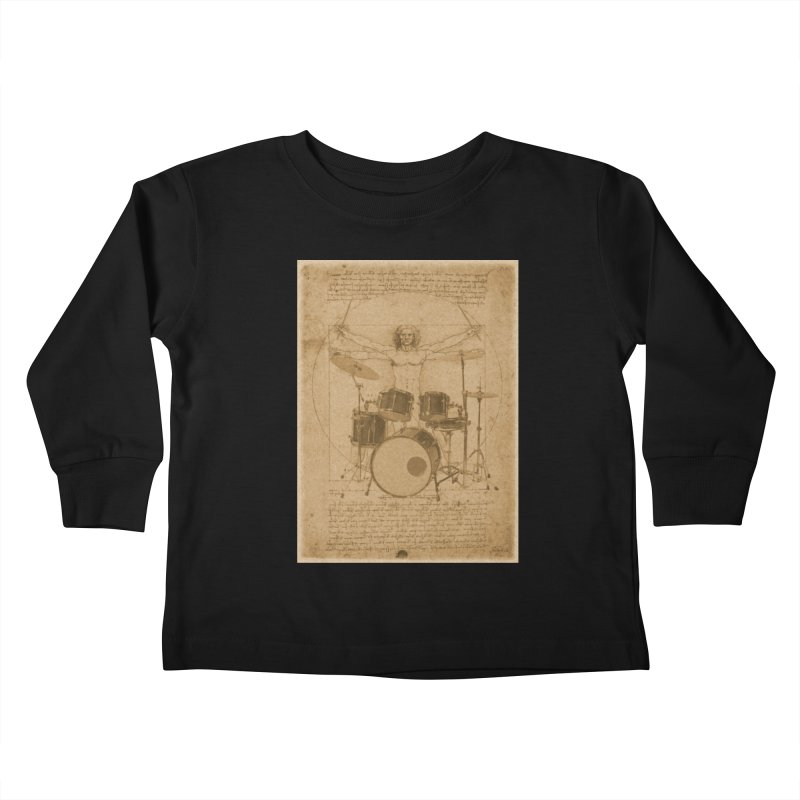 Vitruvius Percussionus Kids Toddler Longsleeve T-Shirt by creativehack's Artist Shop