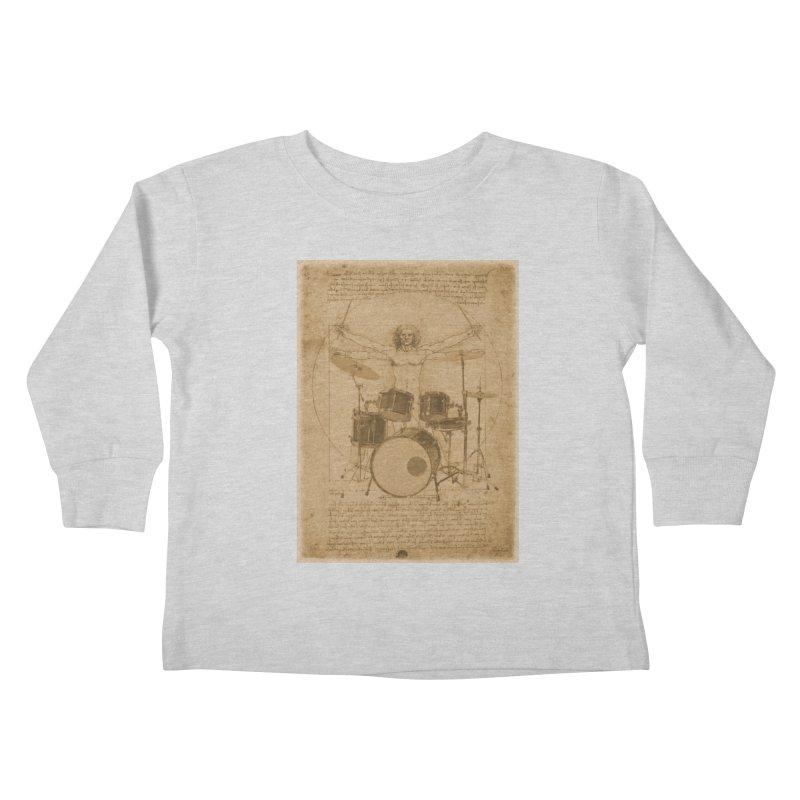 Vitruvius Percussionus Kids Toddler Longsleeve T-Shirt by creativehack's Artist Shop