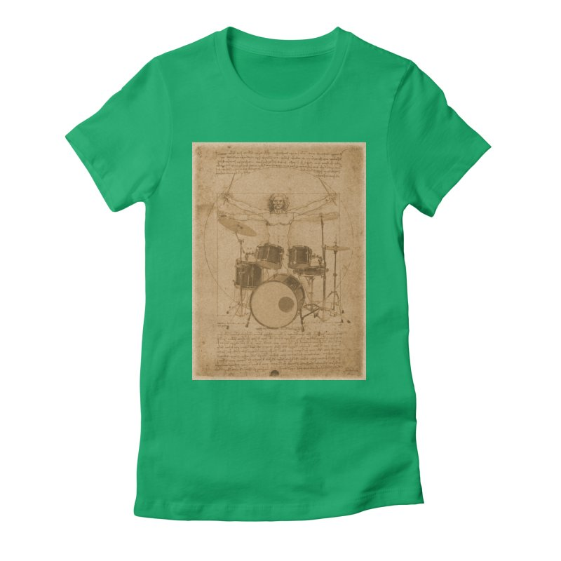 Vitruvius Percussionus Women's Fitted T-Shirt by creativehack's Artist Shop