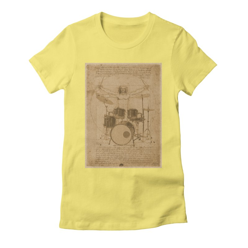 Vitruvius Percussionus Women's Fitted T-Shirt by creativehack's Artist Shop