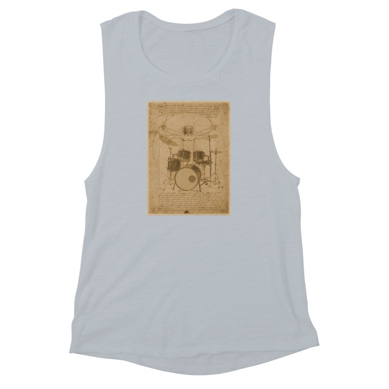 Vitruvius Percussionus Women's Muscle Tank by creativehack's Artist Shop