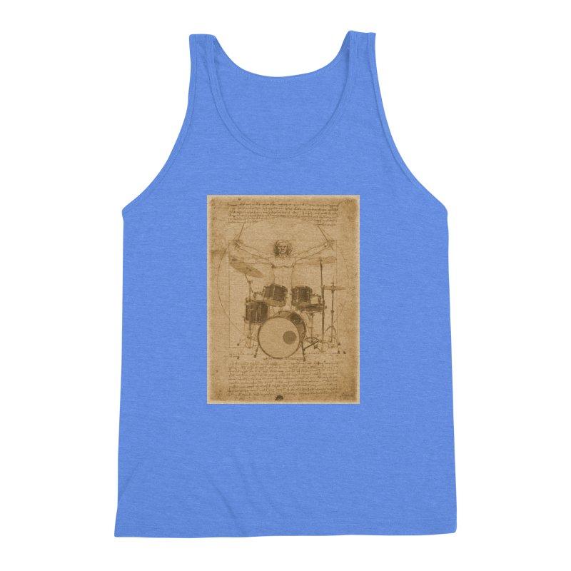 Vitruvius Percussionus Men's Triblend Tank by creativehack's Artist Shop