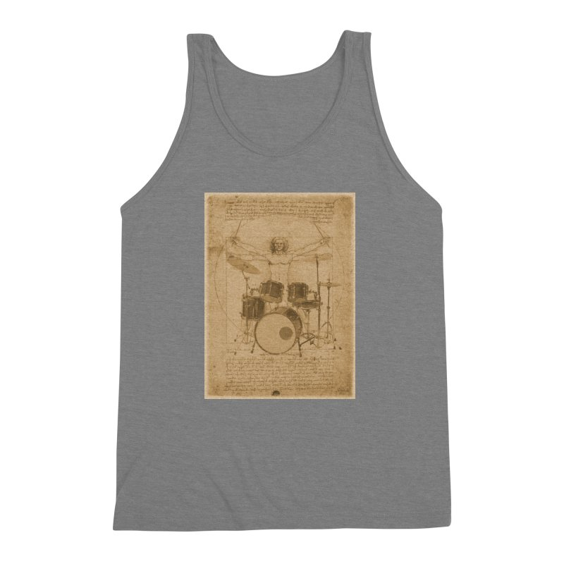 Vitruvius Percussionus Men's Triblend Tank by creativehack's Artist Shop