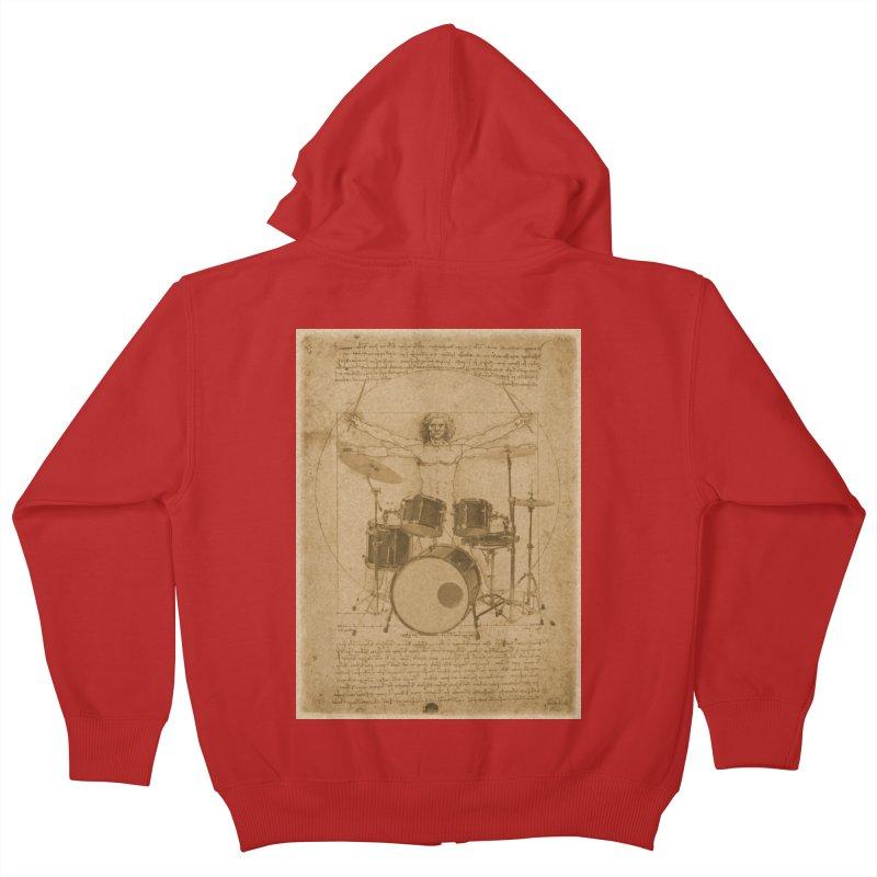 Vitruvius Percussionus Kids Zip-Up Hoody by creativehack's Artist Shop