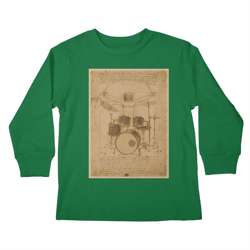 Vitruvius Percussionus Kids Longsleeve T-Shirt by creativehack's Artist Shop