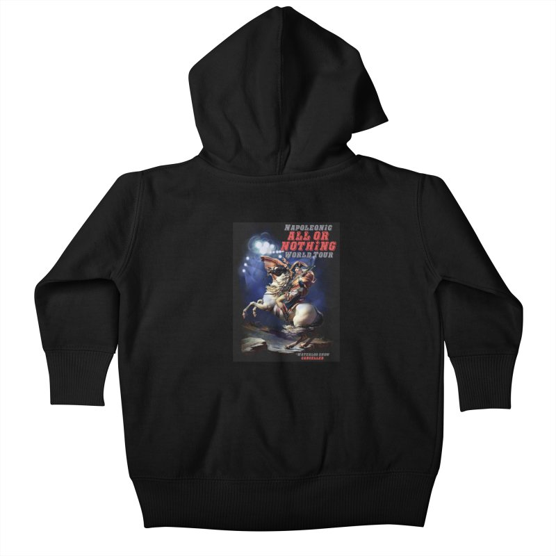 Napoleonic World Tour Kids Baby Zip-Up Hoody by creativehack's Artist Shop
