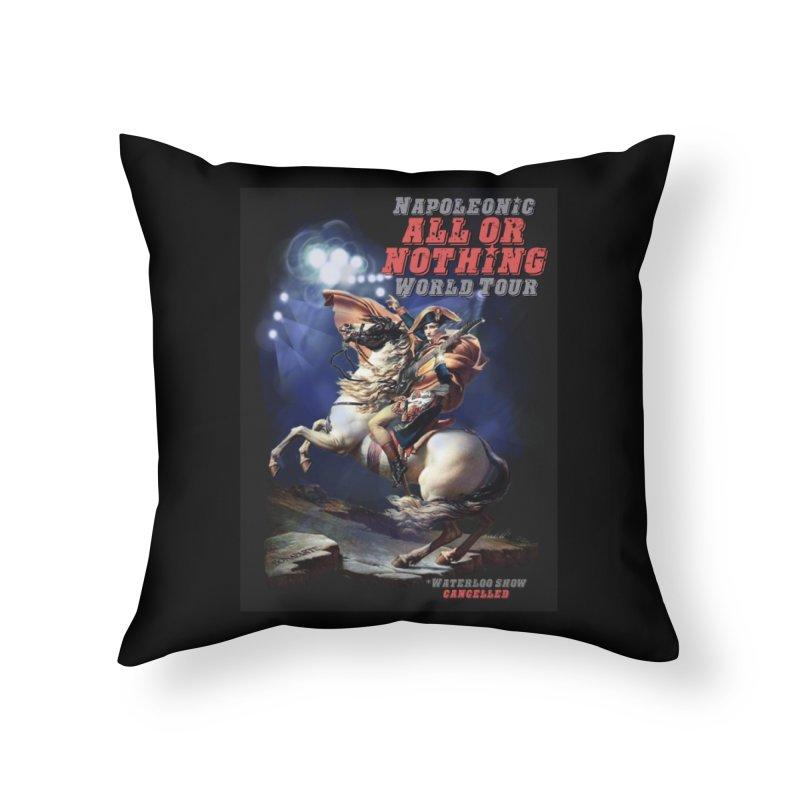 Napoleonic World Tour Home Throw Pillow by creativehack's Artist Shop