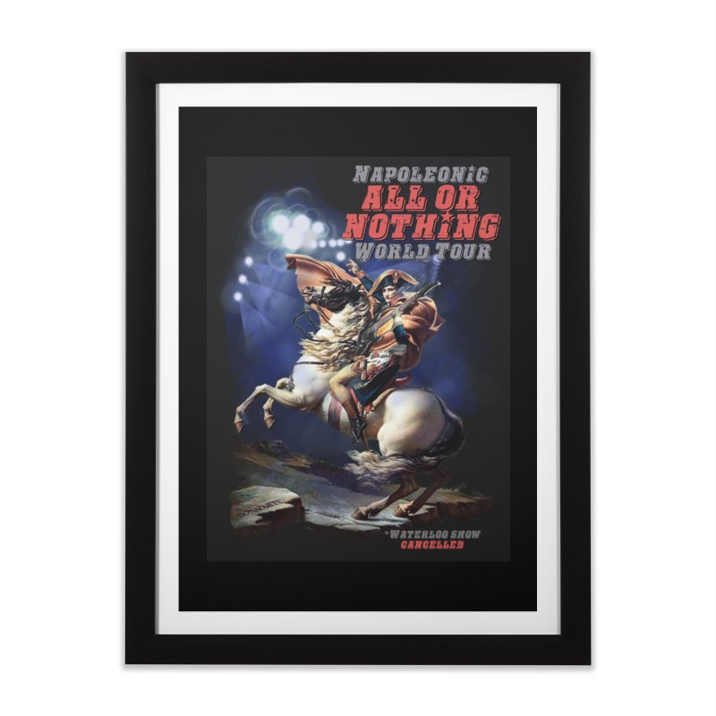 Napoleonic World Tour Home Framed Fine Art Print by creativehack's Artist Shop