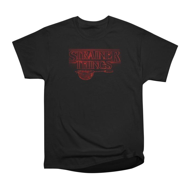 Strainer Things Men's Heavyweight T-Shirt by creativehack's Artist Shop