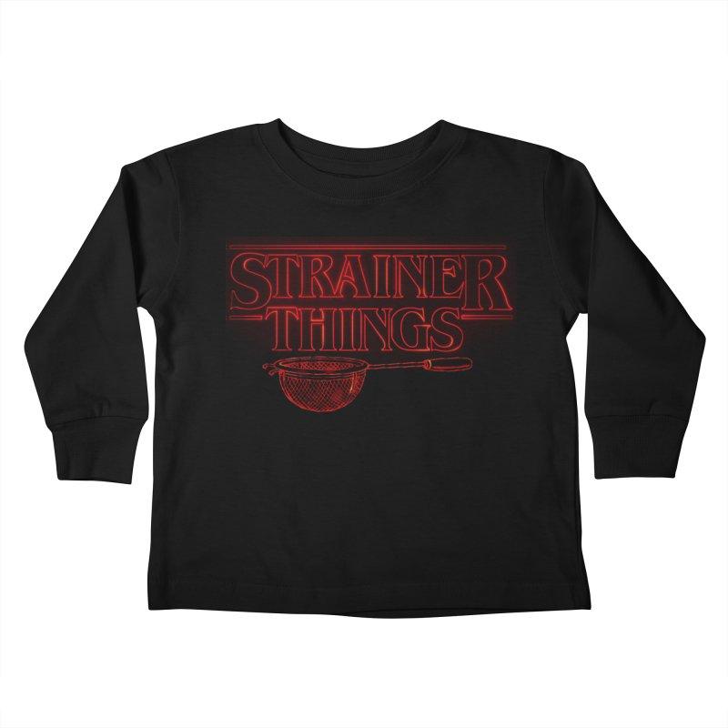 Strainer Things Kids Toddler Longsleeve T-Shirt by creativehack's Artist Shop
