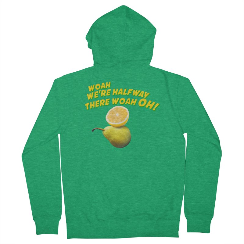 Lemon on a pear Men's Zip-Up Hoody by creativehack's Artist Shop
