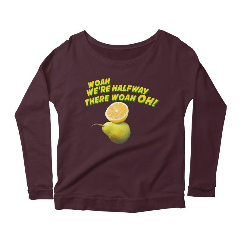 Lemon on a pear Women's Longsleeve Scoopneck  by creativehack's Artist Shop