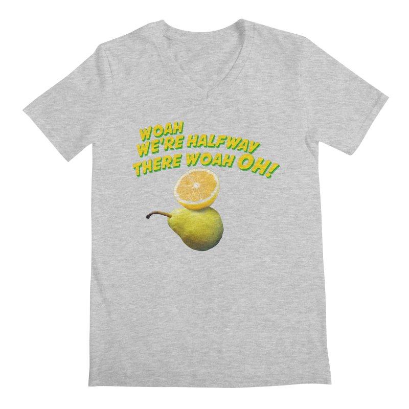 Lemon on a pear Men's V-Neck by creativehack's Artist Shop