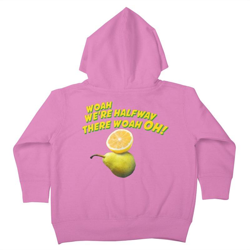Lemon on a pear Kids Toddler Zip-Up Hoody by creativehack's Artist Shop