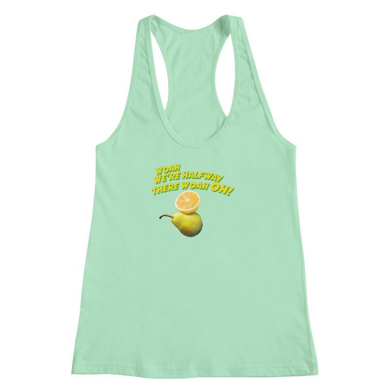 Lemon on a pear Women's Racerback Tank by creativehack's Artist Shop