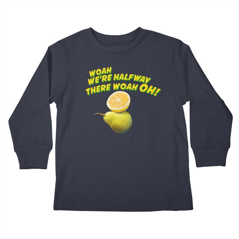Lemon on a pear Kids Longsleeve T-Shirt by creativehack's Artist Shop