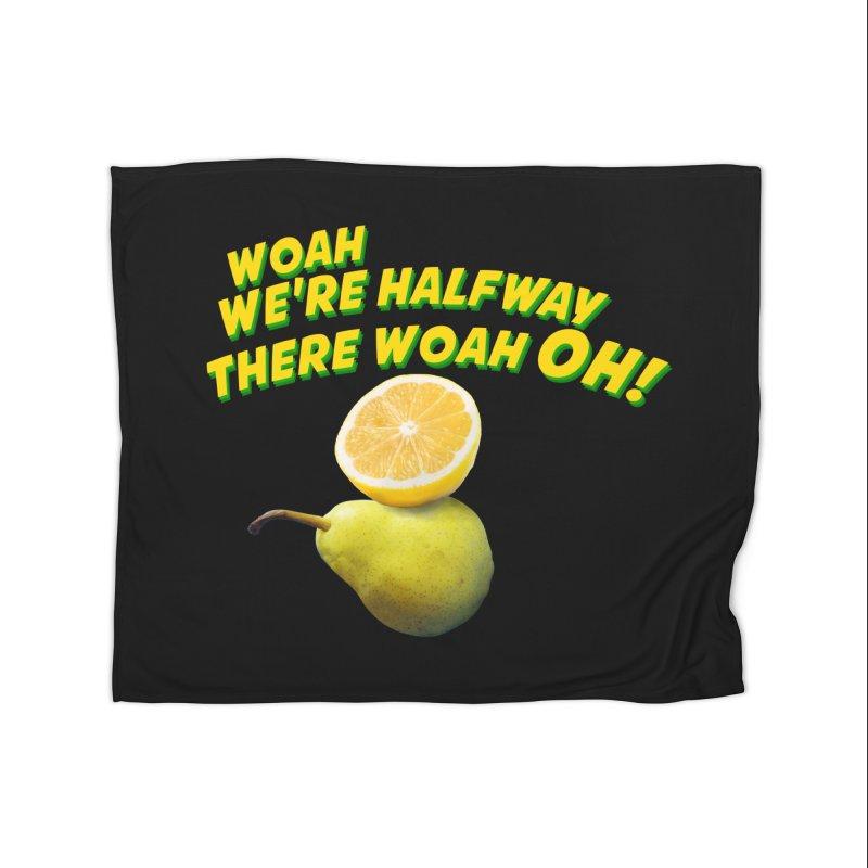 Lemon on a pear Home Blanket by creativehack's Artist Shop