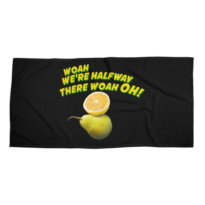 Lemon on a pear Accessories Beach Towel by creativehack's Artist Shop