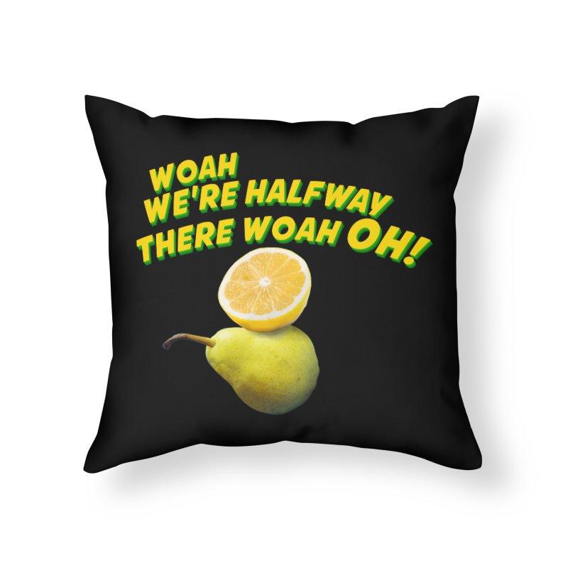 Lemon on a pear Home Throw Pillow by creativehack's Artist Shop