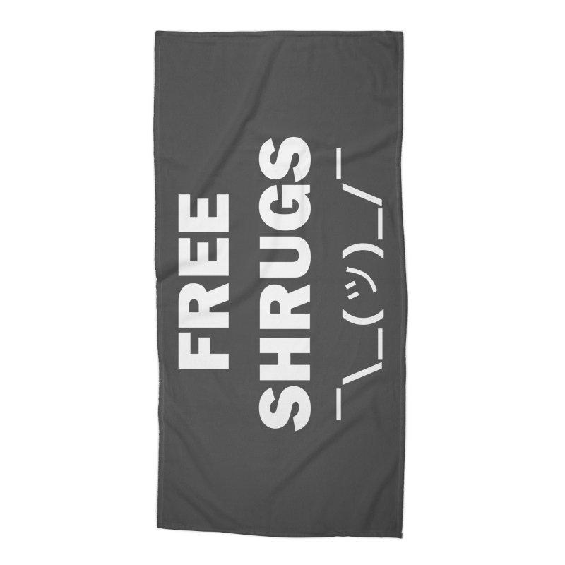 Free Shrugs Accessories Beach Towel by creativehack's Artist Shop