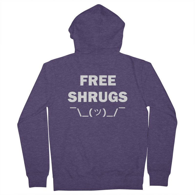 Free Shrugs Men's Zip-Up Hoody by creativehack's Artist Shop