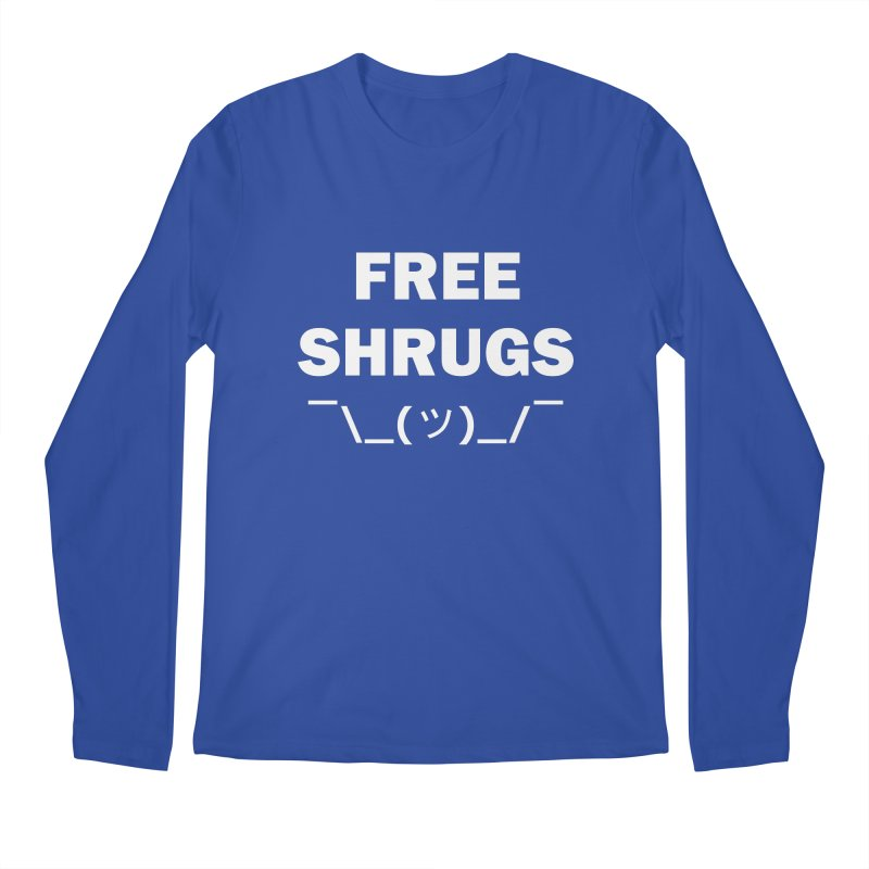 Free Shrugs Men's Longsleeve T-Shirt by creativehack's Artist Shop