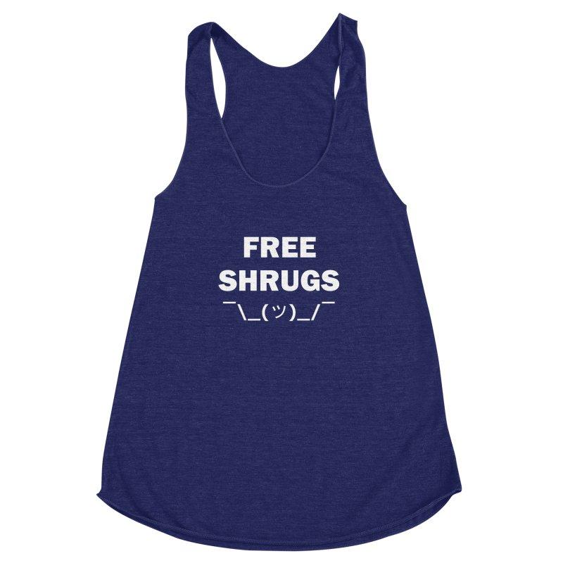 Free Shrugs Women's Racerback Triblend Tank by creativehack's Artist Shop
